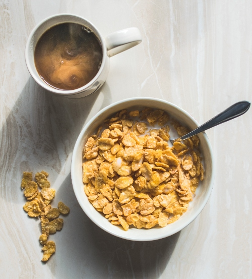 Cornflakes coffee